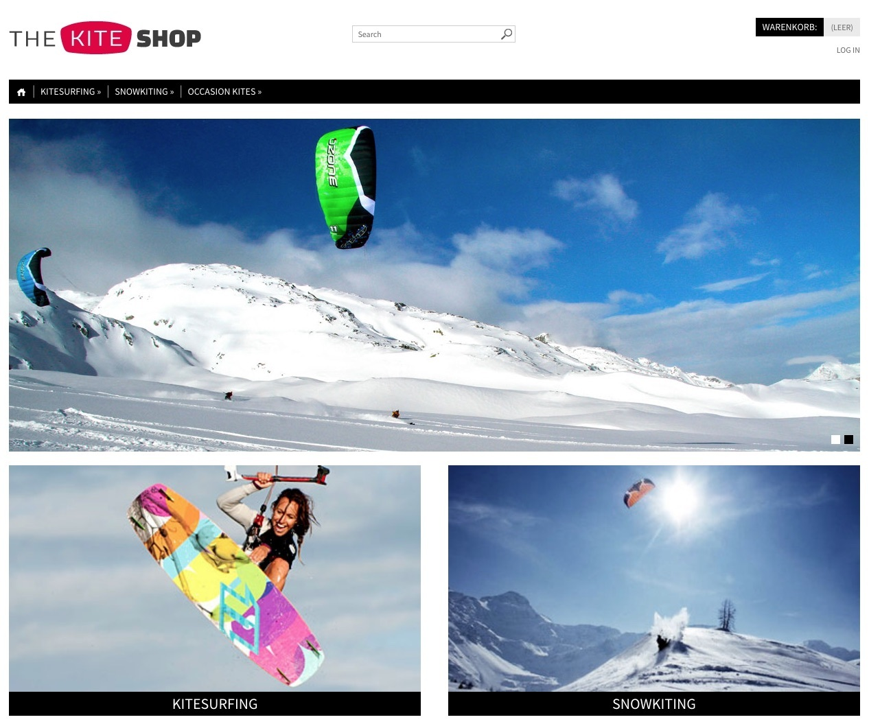 Kiteshop For Kitesurfing And Snowkiting