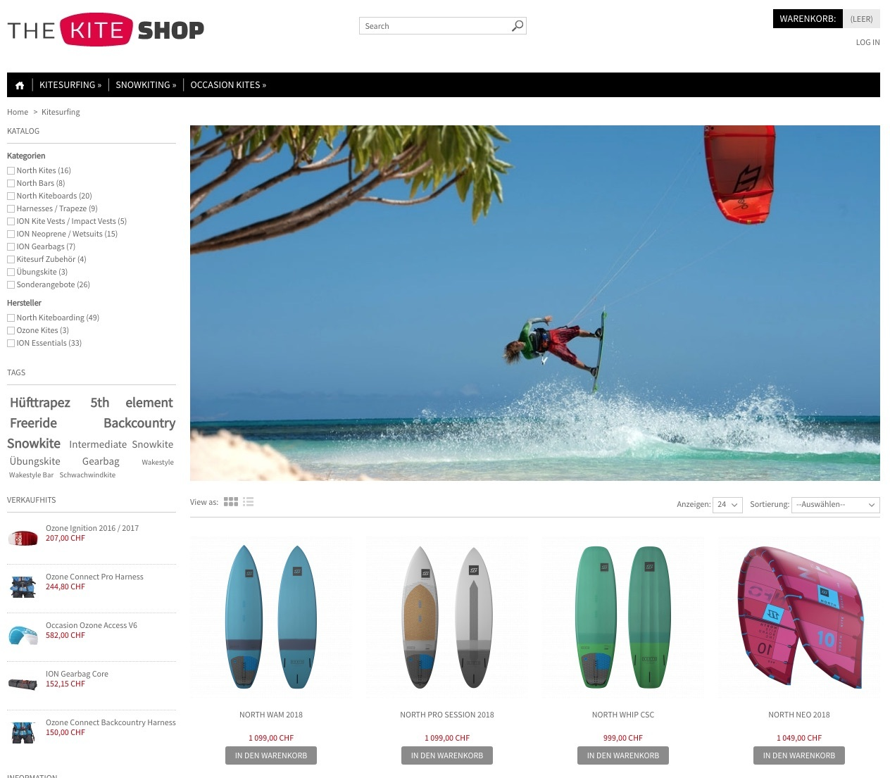 Kitesurfing Shop