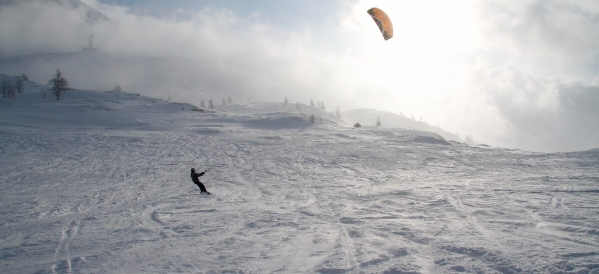 Learn Snowkiting Uphill With Snowboard