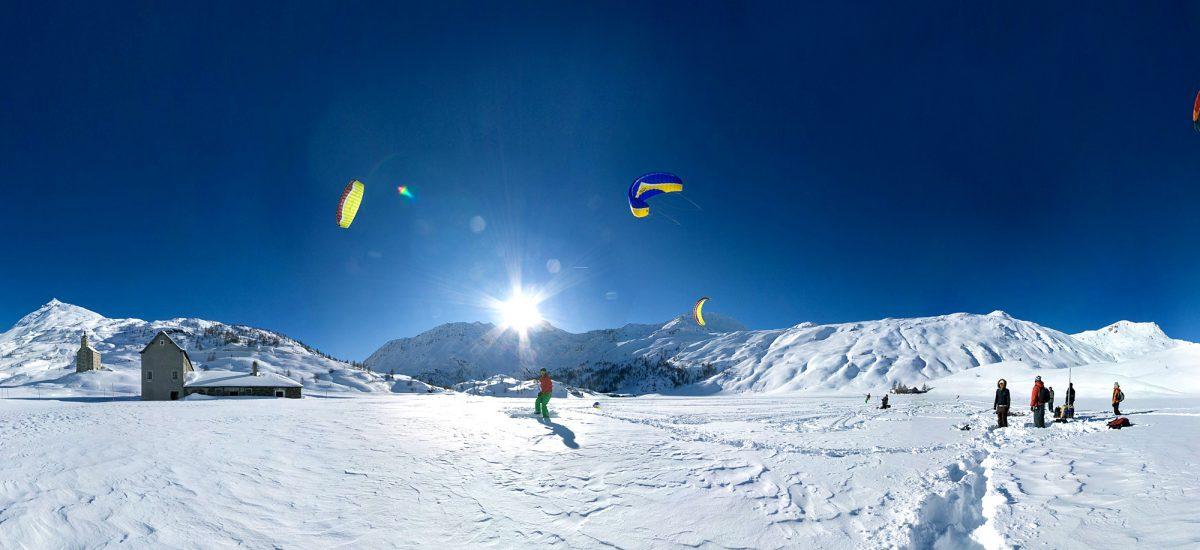 Flat Snowkiting Spot Simplon Switzerland