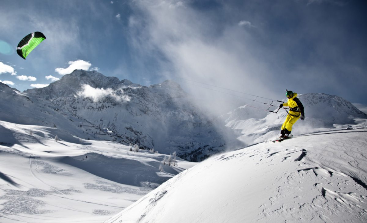 Backcountry Snowkiting Sandro Beutler