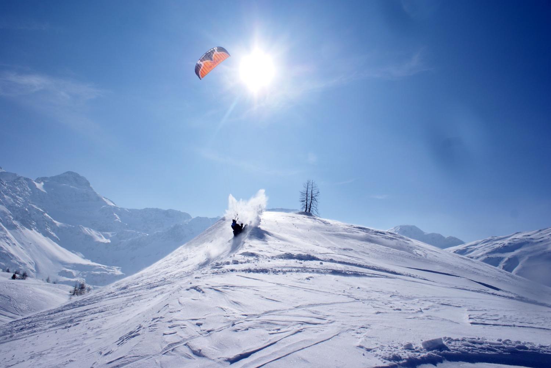 Snowkite Frestyle Snowboarding Jpg